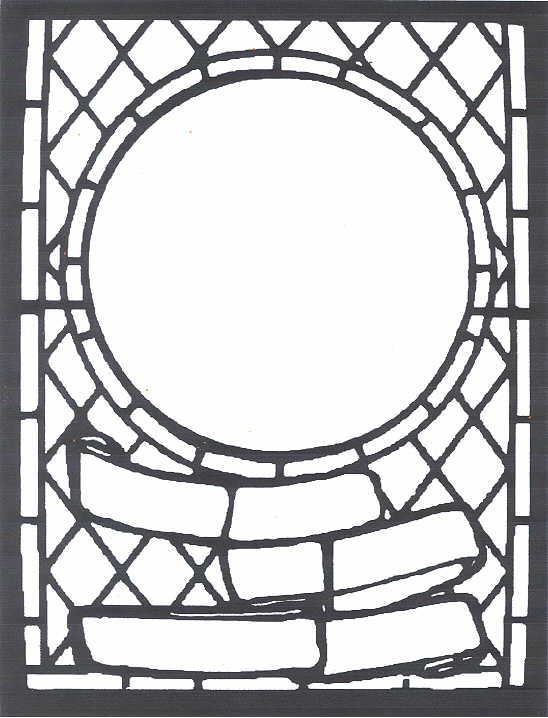 Black And White Stained Glass Chandelier