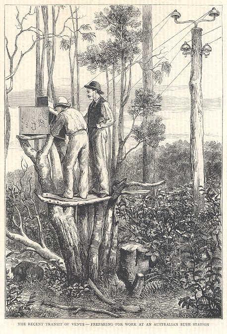 Antique Print 1875 KERGUELEN ISLANDS Transit of Venus Observations